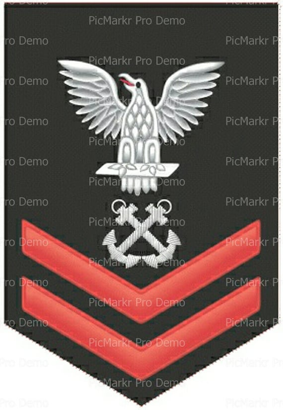 Navy Petty Officer 2nd Class Military Insignia Birthday - Edible Cake and Cupcake Topper For Birthday's and Parties! - D20509