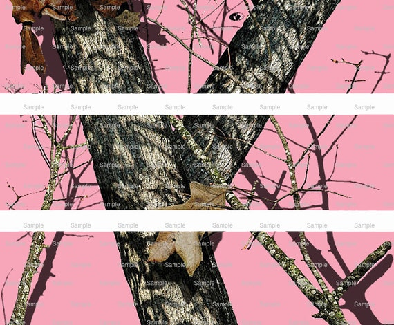 Pink Woodland Camo - Birthday Background - Side Strips - Edible Cake Side Toppers- Decorate The Sides of Your Cake! - D5441