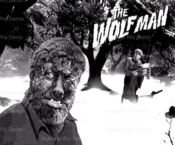 Wolfman Halloween ~ Edible 2D Fondant Birthday Cake/Cupcake Topper ~ D6655