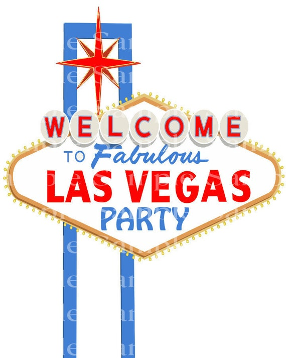 Las Vegas Party Casino Birthday - Edible Cake and Cupcake Topper For Birthdays and Parties! - D24185
