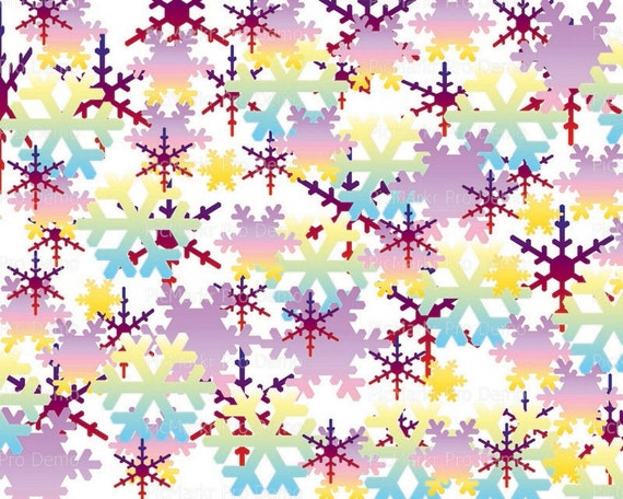 Christmas Holidays Snowflakes - Background Birthday ~ Edible 2D Fondant Birthday Cake/Cupcake Topper ~ D21795