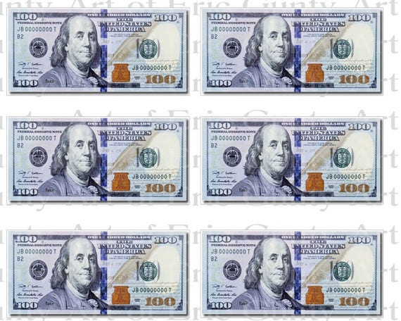 Casino 100 Dollar Bills  Birthday - Side Strips - Edible Cake Side Toppers- Decorate The Sides of Your Cake! - D22804