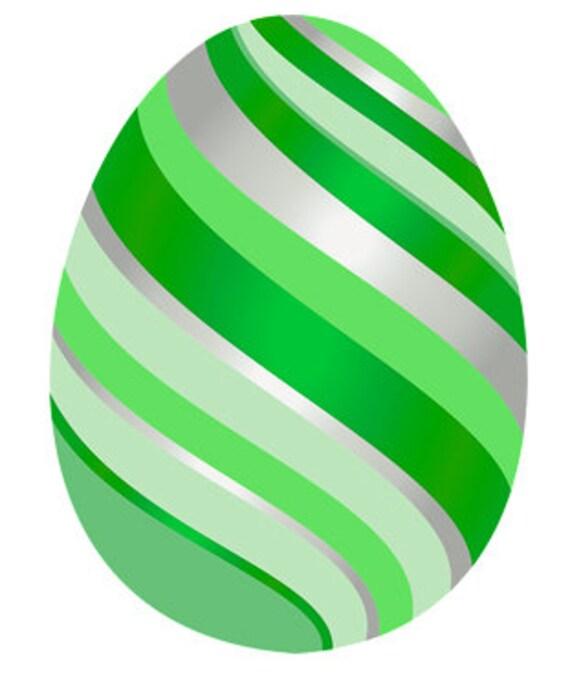 Green Easter Egg Birthday ~ Edible 2D Fondant Birthday Cake/Cupcake Topper ~ D24679