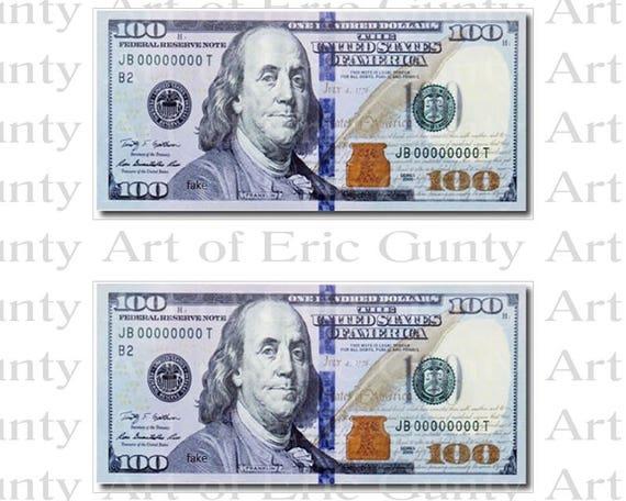 Casino 100 Dollar Bills Birthday ~ Edible 2D Fondant Birthday Cake/Cupcake Topper ~ D22805