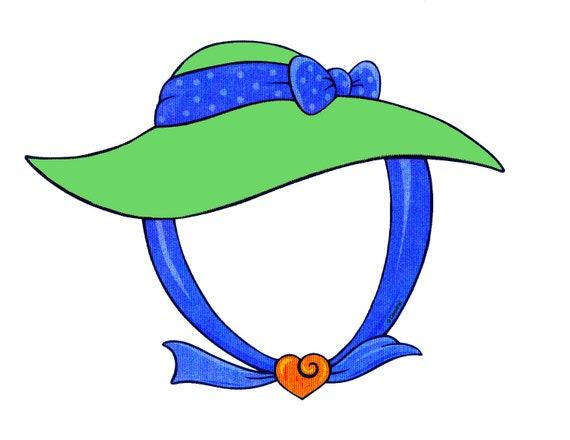 Green Spring Hat Birthday ~ Edible 2D Fondant Birthday Cake/Cupcake Topper ~ D24001