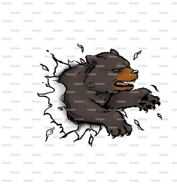 Bears Mascot Birthday ~ Edible 2D Fondant Birthday Cake/Cupcake Topper ~ D916
