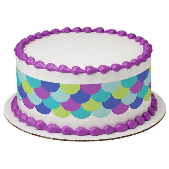 Colorful Sequins Birthday - Edible Cake Side Toppers- Decorate The Sides of Your Cake! - D24109
