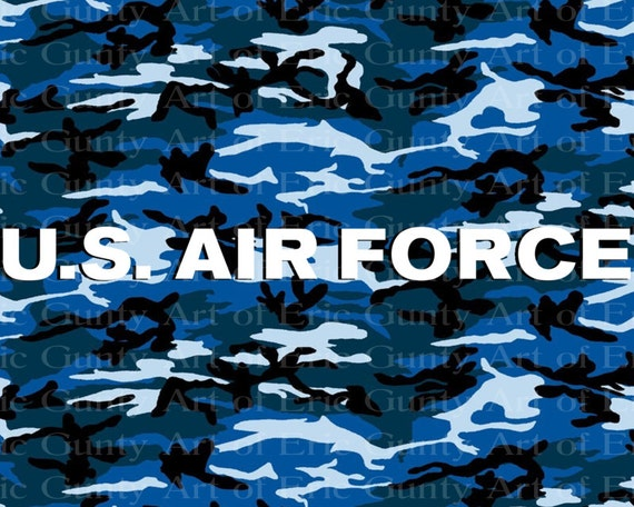 U.S. Air Force Military Camo Birthday - Edible Cake and Cupcake Topper For Birthday's and Parties! - D21934