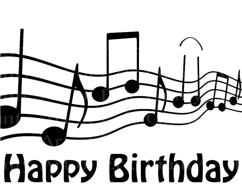 Musical Notes Band Happy Birthday