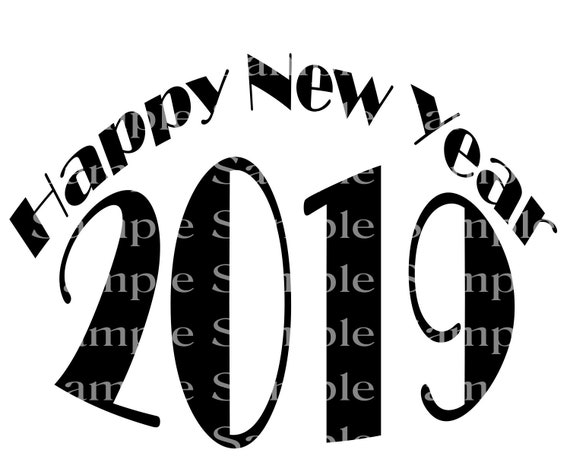 2019 Happy New Year Birthday - Edible Cake and Cupcake Topper For Birthdays and Parties! - D24251