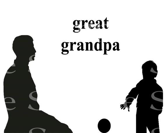 Great Grandpa Silhouette Birthday ~ Edible 2D Fondant Birthday Cake/Cupcake Topper ~ D24526