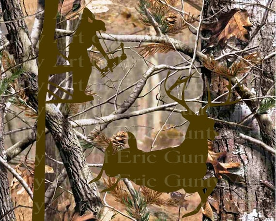 Deer Bow Hunting Camo Birthday - Edible Cake and Cupcake Topper For Birthday's and Parties! - D22149