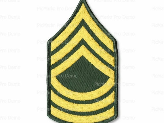 Army Master Sargent Military Insignia Birthday ~ Edible 2D Fondant Birthday Cake/Cupcake Topper ~ D20493