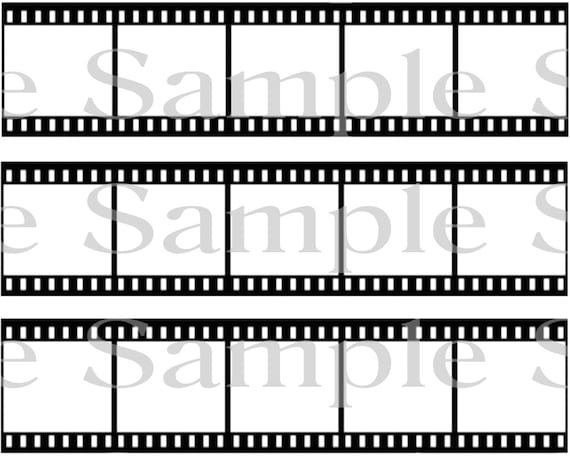 Film Strip Movie Hollywood Birthday - Side Strips - 2D Edible Fondant Cake Side Toppers - Decorate The Sides of Your Cake! - D24159