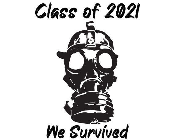We Survived Covid Class of 2021 Graduation - 2D Fondant Edible Cake & Cupcake Topper For Birthdays and Parties! - D24709
