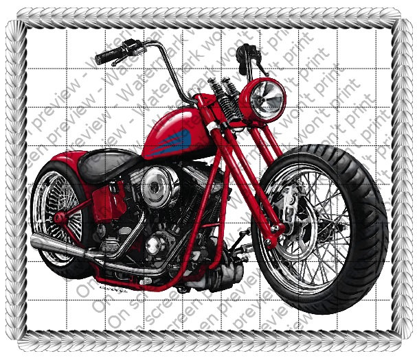 Fantastic Motorcycle Birthday Topper Edible 2D Fondant Birthday Cake Funny Birthday Cards Online Alyptdamsfinfo