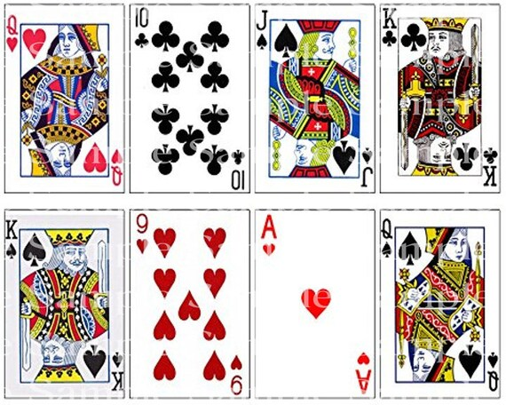 Poker Cards Las Vegas Casino Birthday - Edible Cake and Cupcake Topper For Birthdays and Parties! - D24223
