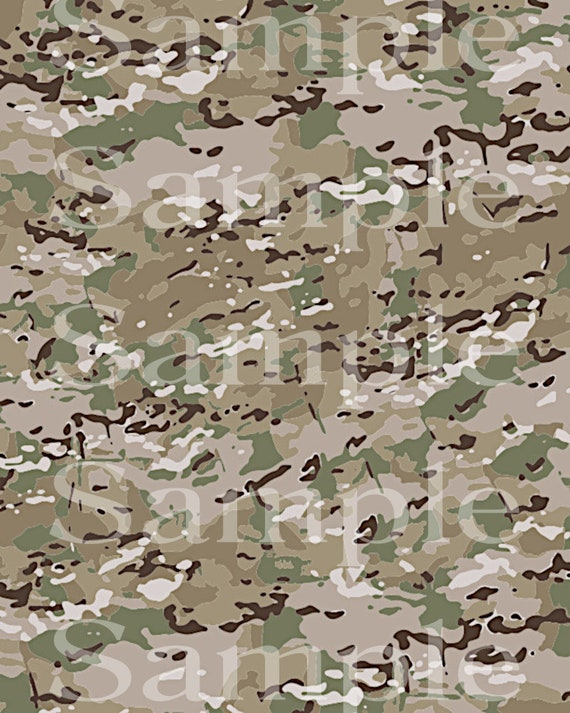 Military Camo Birthday ~ Edible 2D Fondant Birthday Cake/Cupcake Topper ~ D24586