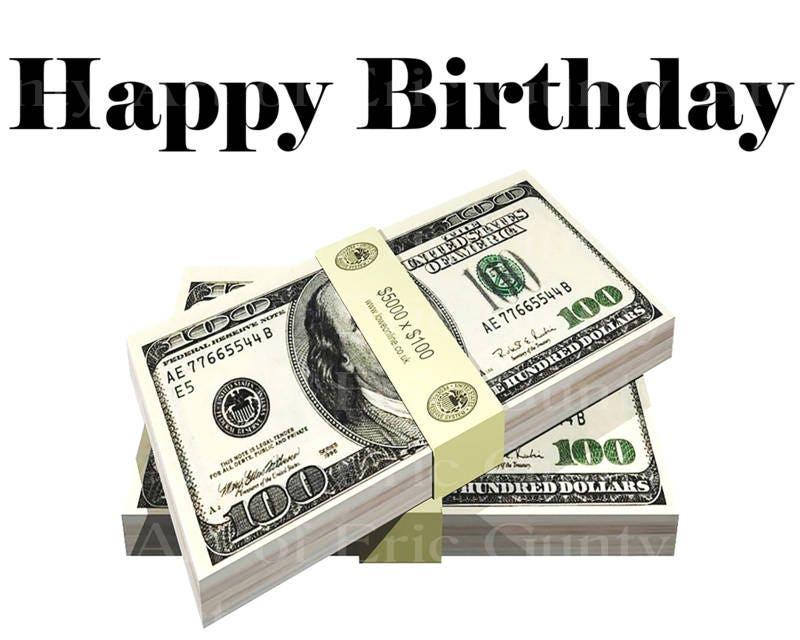 Las Vegas Happy Birthday Money Stack