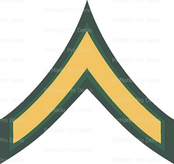 Army Private Military Insignia Birthday ~ Edible 2D Fondant Birthday Cake/Cupcake Topper ~ D20497