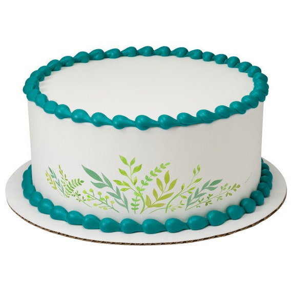 Summer Plants Birthday - Edible Cake Side Toppers- Decorate The Sides of Your Cake! - D24104