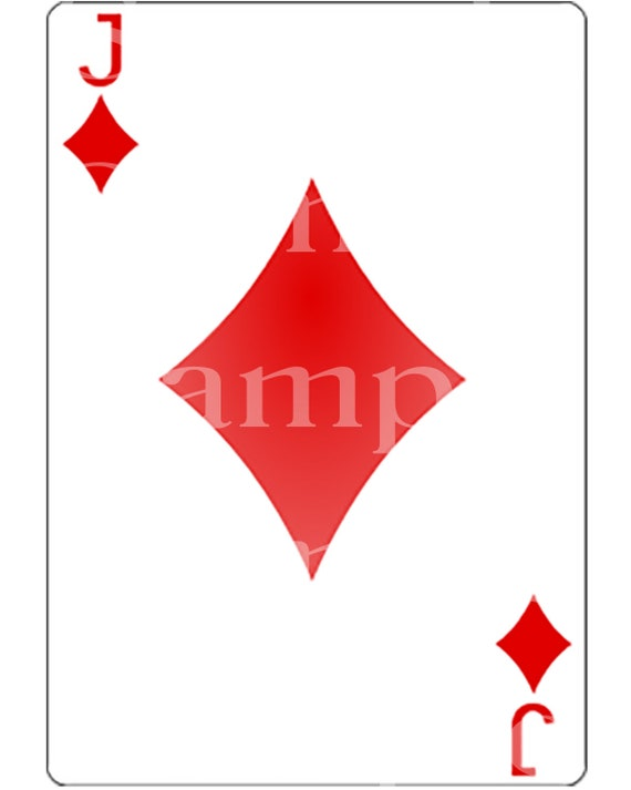 Jack of Diamonds Poker Card Las Vegas Casino Birthday ~ Edible 2D Fondant Birthday Cake/Cupcake Topper ~ D21953