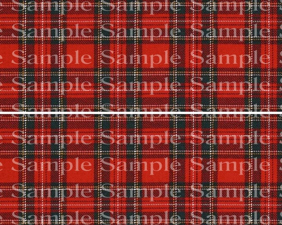 Classic Red Plaid Birthday - 2D Edible Cake Side Toppers - Decorate The Sides of Your Cake! - D24194