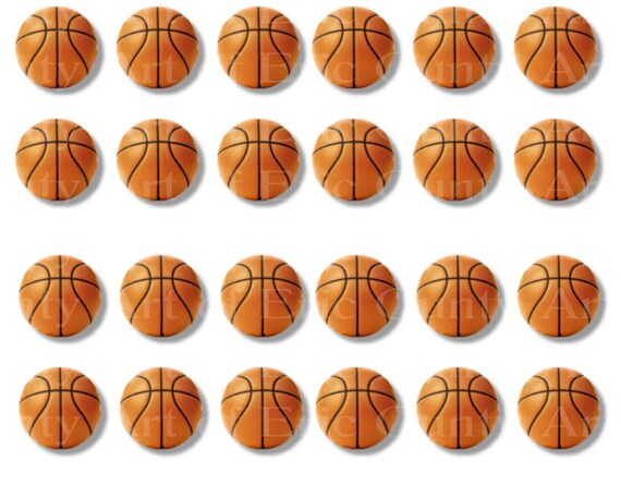 Basketballs Sports Birthday - Side Strips ~ Edible 2D Fondant Birthday Cake Side Toppers ~ D22976