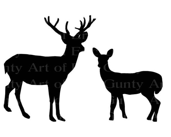 Deer Hunting Buck & Doe Birthday - Edible Cake and Cupcake Topper For Birthday's and Parties! - D22921