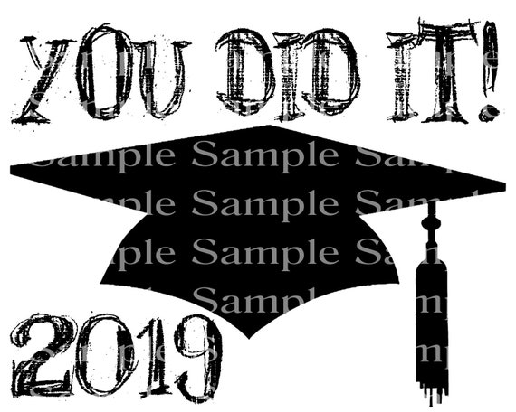You Did It! 2019 Graduation Cap - 2D Fondant Edible Cake & Cupcake Topper For Birthdays and Parties! - D24295
