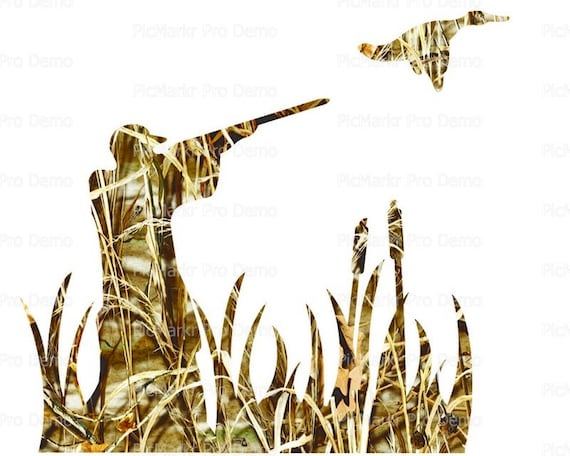 Camo Duck Hunting ~ Edible 2D Fondant Birthday Cake/Cupcake Topper ~ D21619