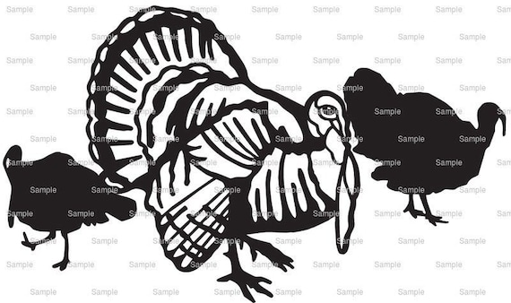Turkey Hunting Birthday - Edible Cake and Cupcake Topper For Birthday's and Parties! - D3997