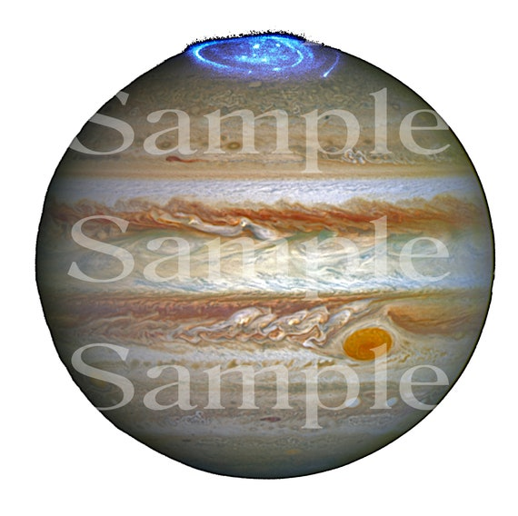 Planet Jupiter Space Birthday ~ Edible 2D Fondant Birthday Cake/Cupcake Topper ~ D24604