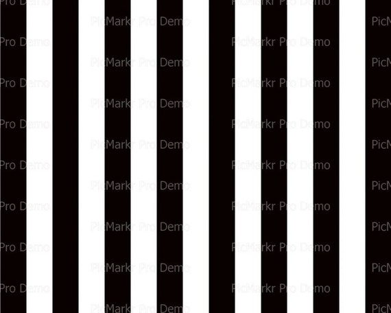 Vertical Black & White Stripes - Edible Cake and Cupcake Topper For Birthday's and Parties! - D21369