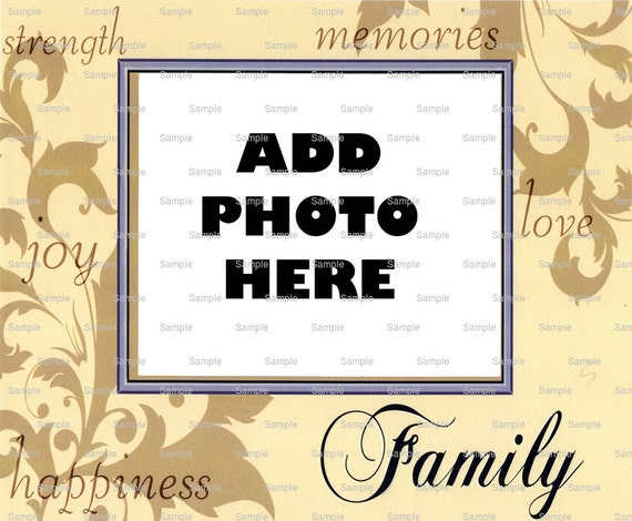 Family Reunion Cake Topper ~ Edible 2D Fondant Birthday Photo Frame Cake/Cupcake Topper ~ D4453