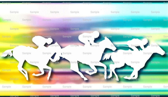 Horse Racing Birthday - Edible Cake and Cupcake Topper For Birthday's and Parties! - D1402