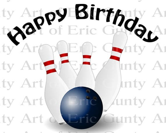 Bowling Balls League Birthday - Edible Cake and Cupcake Topper For Birthday's and Parties! - D22668