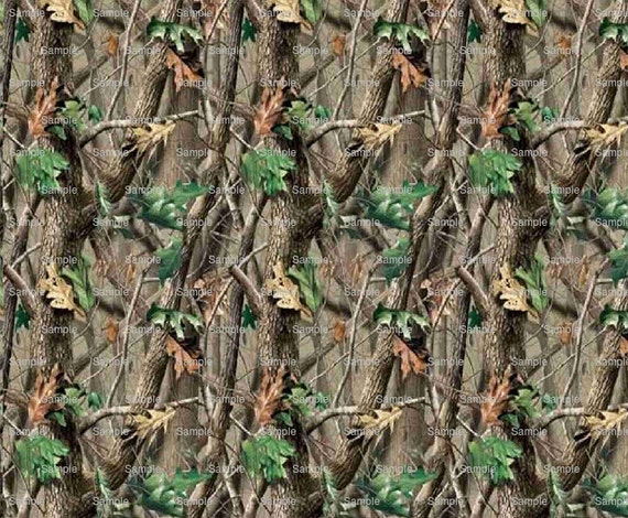 Camo Hunting Birthday Background ~ Edible 2D Fondant Birthday Cake/Cupcake Topper ~ D3930