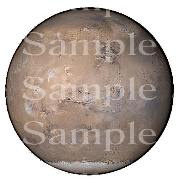 Planet Mars Space Birthday ~ Edible 2D Fondant Birthday Cake/Cupcake Topper ~ D24603