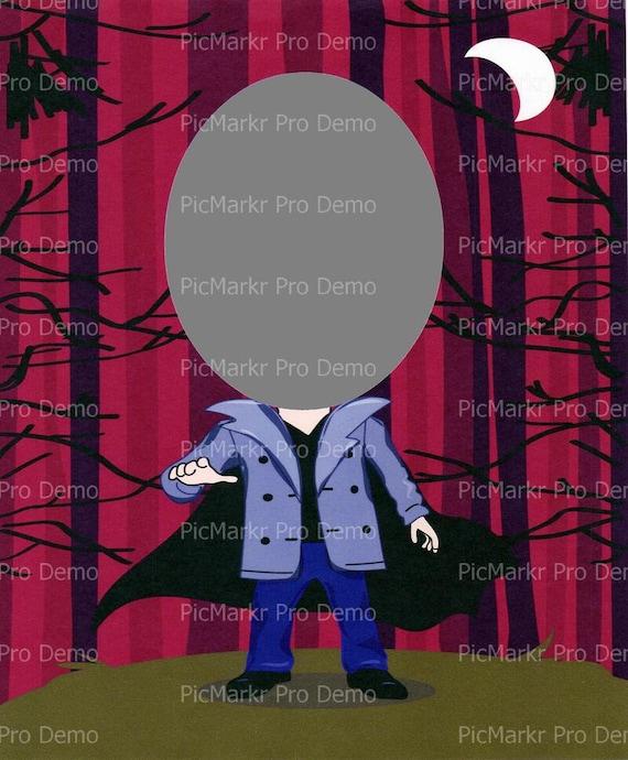 Dracula Vampire ~ Edible 2D Fondant Birthday Cake/Cupcake Topper ~ D4682