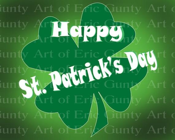 Irish 4 Leaf Clover Happy St. Patrick's Day ~ Edible 2D Fondant Birthday Cake/Cupcake Topper ~ D22118