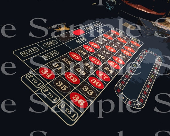 Roulette Wheel Las Vegas Casino Birthday ~ Edible 2D Fondant Birthday Cake Cupcake Topper ~ D21975