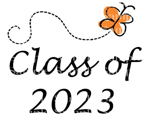 Class of 2023 Butterfly Graduation Cap - 2D Fondant Edible Cake & Cupcake Topper For Birthdays and Parties! - D24290