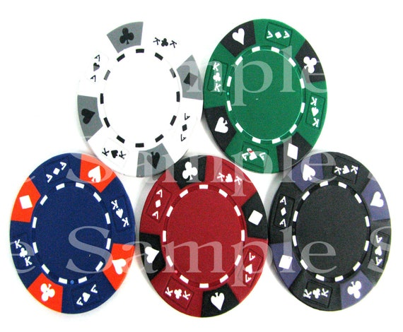 Las Vegas Casino Poker Chips Birthday ~ Edible 2D Fondant Birthday Cake/Cupcake Topper ~ D7335