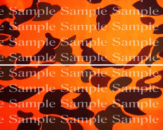 Blaze Orange Camo Birthday - Edible 2D Fondant Cake Side Toppers - Decorate The Sides of Your Cake! - D24321