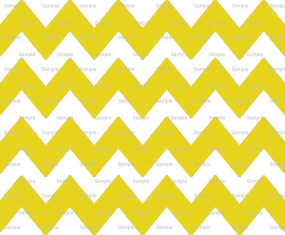 Yellow - Chevron Background Birthday - Edible Cake and Cupcake Topper For Birthday's and Parties! - D6342