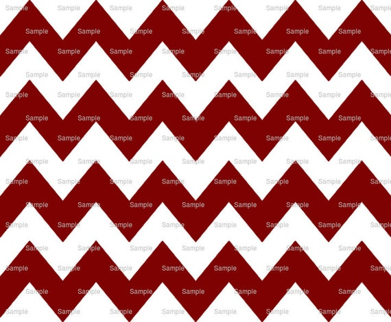 Maroon - Chevron Background Birthday - Edible Cake and Cupcake Topper For Birthday's and Parties! - D6349