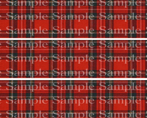 Classic Red Plaid Birthday - 2D Edible Cake Side Toppers - Decorate The Sides of Your Cake! - D24193