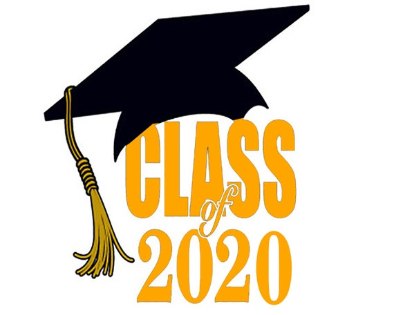Class of 2020 Orange Graduation Birthday ~ Edible 2D Fondant Birthday Cake/Cupcake Topper ~ D24642