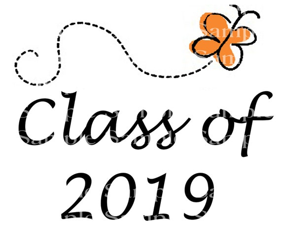 Class of 2019 Spring Butterfly Graduation Cap - 2D Fondant Edible Cake & Cupcake Topper For Birthdays and Parties! - D24250